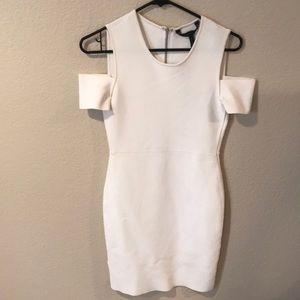 White form fitting BcBg Dress.